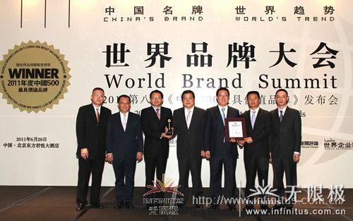 """再次入选""""中国500最具价值品牌""""排行榜,位列第49位,品牌价值195.58亿元人民币"""