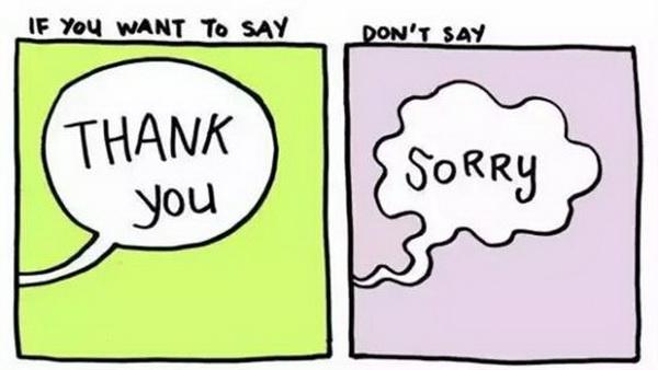 能说谢谢,就别说对不起