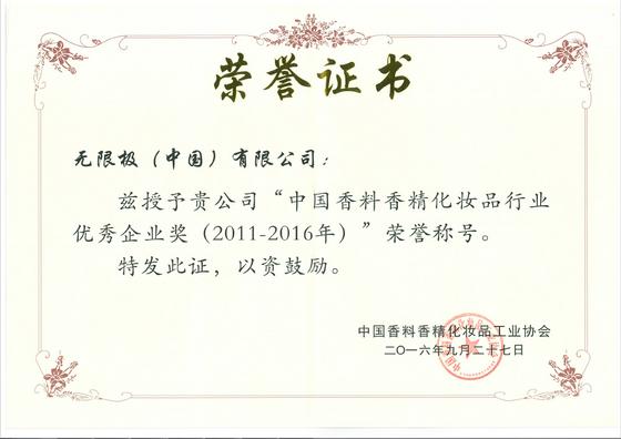 无限极荣获中国香料香精化妆品行业协会四项大奖!