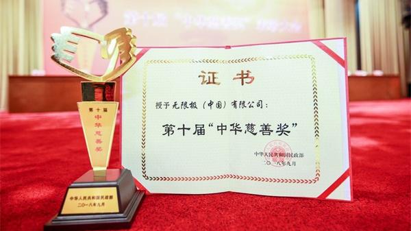 """菲律宾娱乐荣获第十届""""金彩汇国际慈善奖"""""""