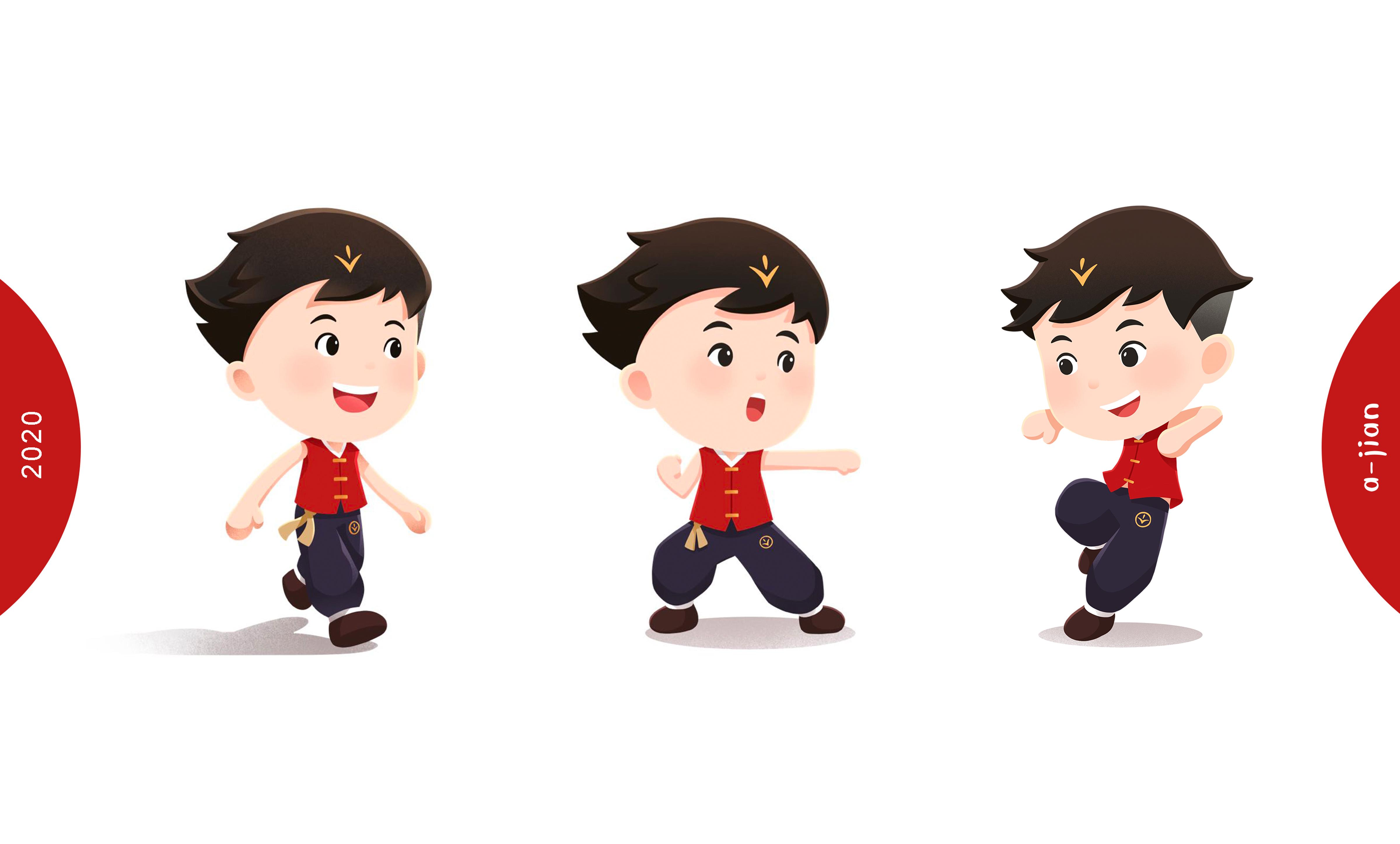 功夫阿健2020闪亮登场,5分极速快乐8启用全新卡通形象!