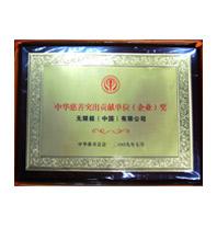 中華慈善突出貢獻單位獎