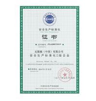 """荣获""""安全生产标准化国家二级企业""""称号"""