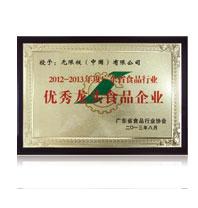 2012~2013年度廣東省食品行業優秀龍頭食品企業